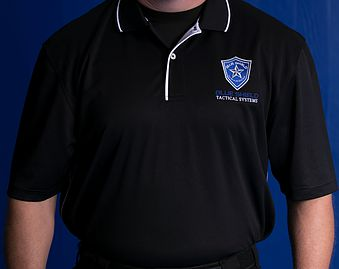 Blue Shield Tactical Polo Shirt with Logo