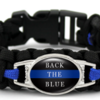 Back the blue bracelet