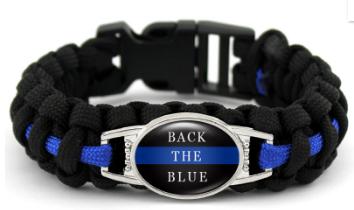 Back The Blue Paracord Bracelet